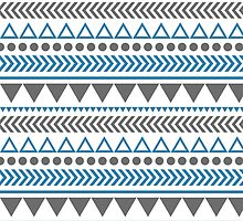 Geometric Shapes Pattern by Jacqui Frank