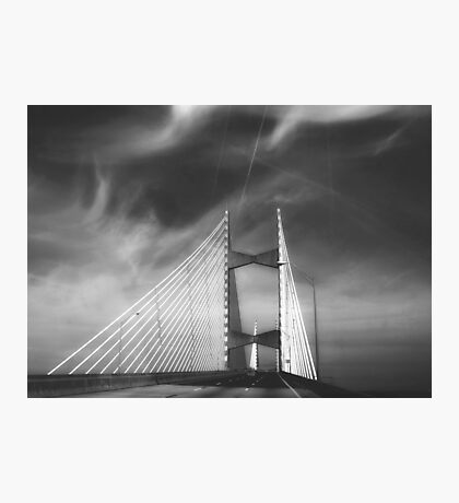 Dames Point Bridge in Black and White Photographic Print