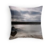 Low tide at Blakeney Throw Pillow