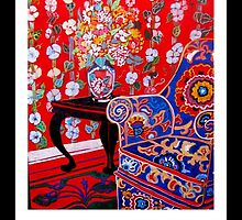 blue suzani easy chair by Linda Arthurs