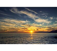 Camogli Sunset Photographic Print