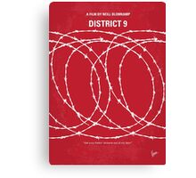 No023 My District 9 minimal movie poster Canvas Print