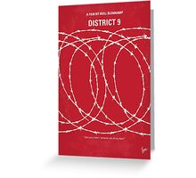 No023 My District 9 minimal movie poster Greeting Card