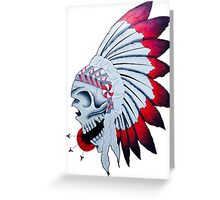 Chief Skull Greeting Card
