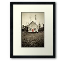 Red Door Framed Print