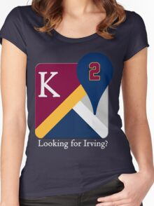 Kyrie Irving Maps Women's Fitted Scoop T-Shirt