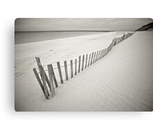 Fenced Beach Canvas Print