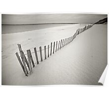 Fenced Beach Poster