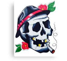 Gangster Skull Canvas Print