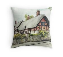 Anne Hathaway`s cottage  Throw Pillow