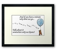 "Keane ""Somewhere Only We Know"" Balloon Framed Print"