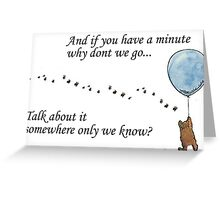 "Keane ""Somewhere Only We Know"" Balloon Greeting Card"