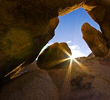 Sunrise at Arch Rock, Joshua Tree National Park by photosbyflood