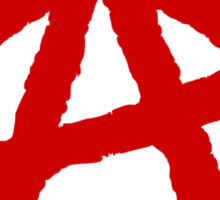 Anarchism Symbol Anarchist Red Sticker