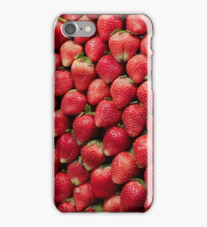 Sweet and Fresh Stacked Strawberries  iPhone Case/Skin