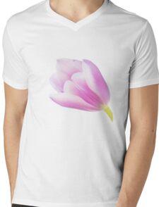Graceful Pink Tulip Mens V-Neck T-Shirt
