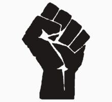 Solidarity Fist Salute Black by BenjiKing