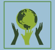 Green Hands Earth. Environment. Kids Clothes