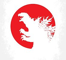 No029-1 My Godzilla 1954 minimal movie poster by JiLong
