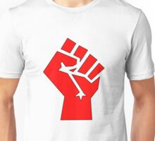 Solidarity Fist Salute Red Unisex T-Shirt