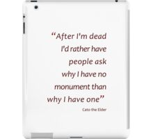Death and monuments... (Amazing Sayings) iPad Case/Skin