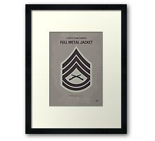 No030 My Full Metal Jacket minimal movie poster Framed Print