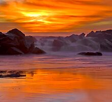 Tequilla Sunset, Venice Beach, California by photosbyflood