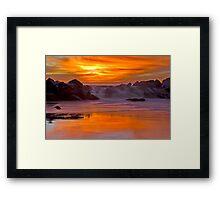 Tequilla Sunset, Venice Beach, California Framed Print