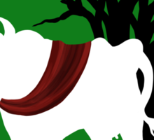 Into the Woods -  Green Background Sticker