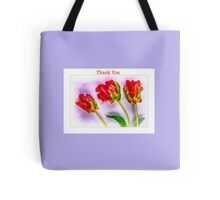 Thank You With Eye Catching French Tulips Tote Bag