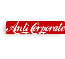 Anti-Corporate 'Subversive' Cola Logo Canvas Print