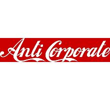 Anti-Corporate 'Subversive' Cola Logo Photographic Print