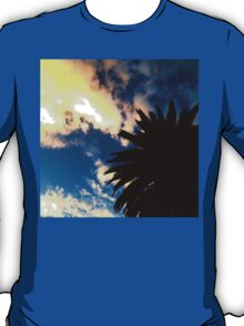 Palm Trees Silhouette - The Sun Behind The Clouds T-Shirt
