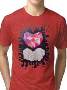 Precious Diamond Heart Tri-blend T-Shirt