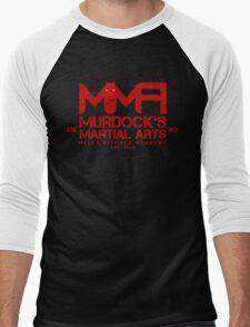 MMA - Murdock's Martial Arts (V04 - Bloodred) Men's Baseball ¾ T-Shirt