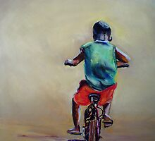 Malawi Boy on a bike by Shirlroma