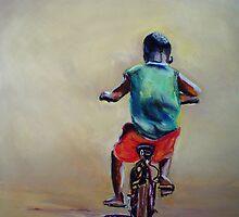 Malawi Boy on a bike by Shirlroma