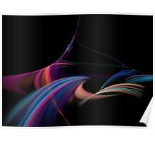 Soft Whisps of Colors Poster