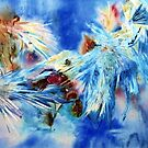 New Life  Mixed Media of Watercolour and Ink,salt by Shirlroma