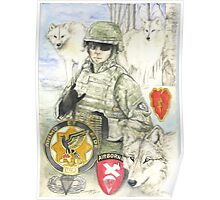 Portrait of a Hero -arctic wolves Poster