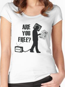 Are You Free? They Live, John Carpenter Women's Fitted Scoop T-Shirt