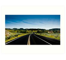 """Life in the Vast Lane""  North Dakota Art Print"