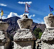 ancient stupas. ladakh, india by tim buckley | bodhiimages