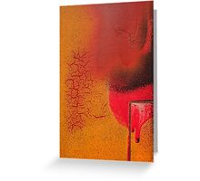 Texture orange 3 Greeting Card