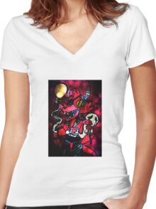 FNAF - Foxy Was My Favourite Women's Fitted V-Neck T-Shirt