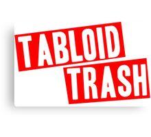 Tabloid Trash Canvas Print