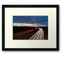 Peak hour exit - another day another commute Framed Print