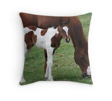 Foal and Mare Throw Pillow