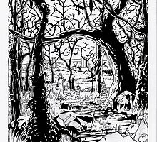 Ink rendering of The Dark Forest by tofnewrealm