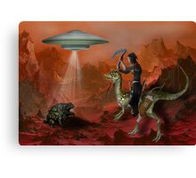 Aliens, are they real? Canvas Print